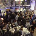 """Foyer der Lagerhalle - Ansturm auf den Eröffnungsfilm """"Die letzte Sau"""" #ffos16 + Foto © www.kerstin-hehmann.de"""
