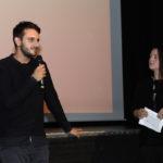 """Regisseur Marcel Glauche (""""Zwangsräumung"""") und Carina Peuken (Auswahlgruppe Kurzfilm)_#ffos16, Foto © www.kerstin-hehmann.de"""