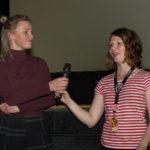 """Hauptdarstellerin Elena Vaska (""""Mellow Mud"""") und Inga Becker (FilmFestTeam)_#ffos16_Foto © www.kerstin-hehmann.de"""