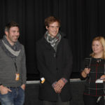 "Regisseur Aurélien Laplace (""A Historic Handshake""), Regisseur Damian Weber (""Kollegen"") und Susanne Häring (Auswahlgruppe Kurzfilm)_ #ffos16_Foto © www.kerstin-hehmann.de"