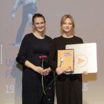 """Festivalleiterin Julia Scheck und Hauptdarstellerin Elina Vaska (""""Mellow Mud"""", Publikumspreis 2016) #ffos16_Foto  © www.kerstin-hehmann.de"""