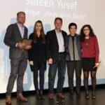 """Niklas Sievert, die Jury des Friedesfilmpreises 2016 und Regisseurin Soleen Yusef (""""Haus ohne Dach"""") #ffos16_Foto  © www.kerstin-hehmann.de"""
