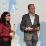 """Regisseurin Soleen Yusef (""""Haus ohne Dach"""") und Niklas Sievert  #ffos16_Foto  © www.kerstin-hehmann.de"""