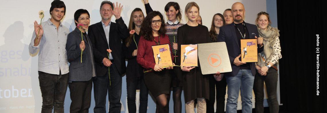 Die Gewinner des 31. Unabhängigen FilmFest Osnabrück und die Friedensfilmpreis-Jury 2016 #ffos16_Foto  © www.kerstin-hehmann.de